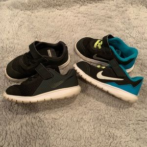 2 Pairs of Toddler Boys Nike Tennis Shoes Size 8